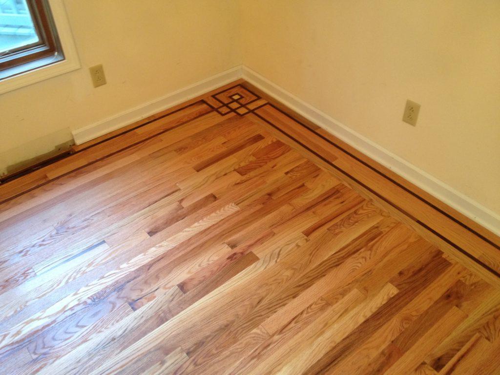 Custom Hardwood Floor Bordering
